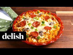 Best Cheesy Noodle Pizza Recipe - Delish