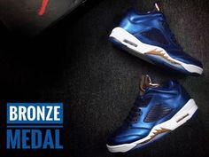 6c8bbcf6453f Air Jordan 5 Retro V Low Bronze Medal Basketball Shoes AAA