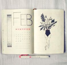 Monthly cover spread Bullet Journal #buletjournal #bujo #monthly