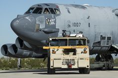 The plane, nicknamed Ghost Rider, was mothballed seven years ago at the Davis-Monthan Air Force Base in Tucson, Arizona - but took to the skies again earlier this month. Air Force Bases, Us Air Force, Military Jets, Military Aircraft, B 52 Stratofortress, Boeing Aircraft, Aircraft Painting, Military Pictures, Jet Engine