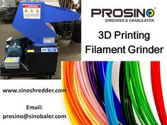 printing filament recycling is an ecological solution to reuse printing filament and release the plastic waste landfill pressure. Contact PROSINO team for a printing filament size reduction solution today. Fused Deposition Modeling, Plastic Waste, Reuse, 3d Printing, Recycling, Prints, Impression 3d, Upcycle