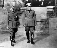 Spanish authoritarian leader Francisco Franco (1892 - 1975) with Italian dictator Benito Mussolini (1883 - 1945).
