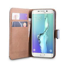 iDefend Samsung Galaxy S6 Genuine Leather Black Tan Case + Screen Protector