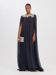 EMBROIDERED CAPE CAFTAN $4,990.00 Women's Evening Dresses, Formal Dresses, Full Length Gowns, Shoe Size Conversion, Bridesmaid Dresses, Wedding Dresses, Silk Chiffon, Bodice, Caftans