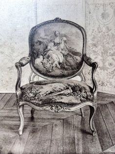 Vintage Arm Chair w/Toile Fabric French Decor, French Country Decorating, Antique Furniture, Painted Furniture, Furniture Dolly, Images Vintage, Love Chair, French Chairs, French Armchair