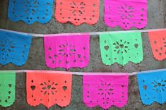 {Mexican papel picado} check out @happythoughtUK and find this wonderful idea for 'not just' your Cinco de Mayo celebration ... I mean, any time is party time and any occasion for that matter :)