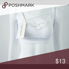 White bralette Can be worn as a top under a blazer or with  high waisted pants Intimates & Sleepwear Bras