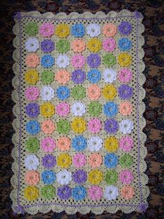Free and Quick and easy Crochet Blanket Pattern Ideas Part 23 ; knitting blankets for beginners; Crochet Blanket Border, Crochet Blanket Patterns, Afghan Crochet, Granny Square, Square Blanket, Crochet Simple, Patchwork Baby, Manta Crochet, Baby Afghans