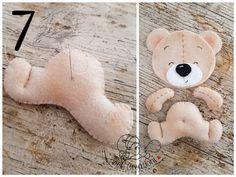 Teddy notepad with felt for printing Felt Crafts Dolls, Felt Crafts Patterns, Felt Dolls, Baby Toys, Diy Teddy Bear, Teddy Bears, Bear Felt, Felt Fabric, Sewing Toys