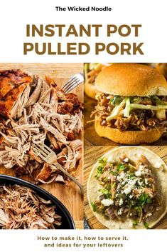 Instant Pot Pulled Pork is tender as if you'd cooked it all day. Find out which cut of pork is best, get side dish suggestions, plus leftover pulled pork ideas! Pulled Pork, Ground Beef, Healthy Dinner Recipes, Instant Pot, Side Dishes, Vegetarian, Foods, Eat, Cooking
