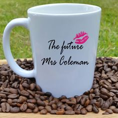Personalised Engagement Mug A personalised engagement mug for the bride or groom-to-be. We think this is an amazing pre-wedding gift for someone to celebrate an engagement. This personalised mug is perfect for the engaged couple to enjoy a cuppa in their very own mug. £12.00