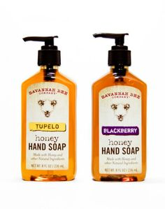 Tupelo and Blackberry Honey Hand Soaps: Making the kitchen sink your new favorite spot in the house. $10.99