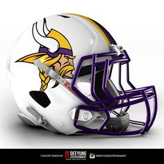 Minnesota Vikings - NFL Concept Helmet by Co. Minnesota Vikings Football, Equipo Minnesota Vikings, Nfl Vikings, Cool Football Helmets, Football Helmet Design, Sports Helmet, Football Uniforms, Football Gloves, Cowboys Helmet