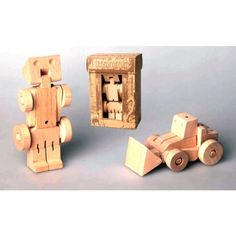 Wooden Transformer - Bulldozer All the fun of a transformer without the plastic and batteries!!!