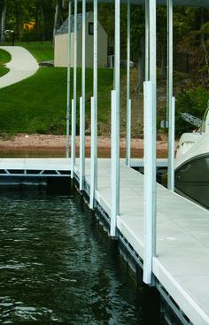 White Post Bumper Dock Bumpers, Boat Dock, Landscape Rake