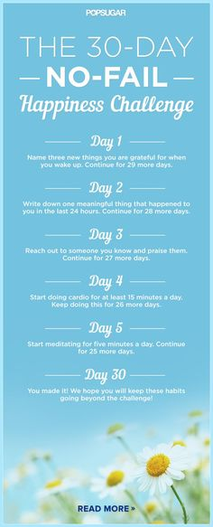 Take this challenge to get happy in just 30 days. :)