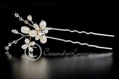 Pearl Flower Wedding Hair Pin