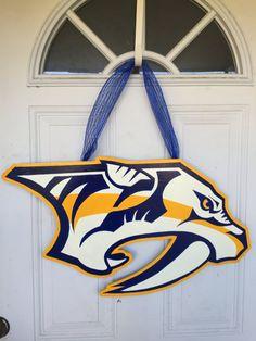 Nashville Predators Hockey Door Hanger Predators by SassyHangUps