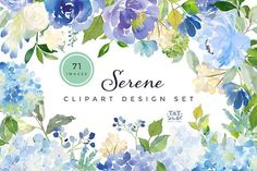 Serene - Flower Clipart Set by Twigs and Twine on @creativemarket (promoted)