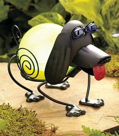 #Solar Color Changing Animal #Statues - #Garden #Dog #Frog