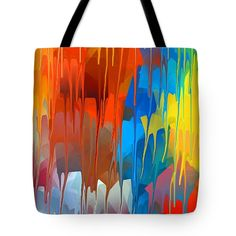 Melting Abstract 1 Tote Bag by Chris Butler.  #totebag #bag #abstract #colorful #design #art #Lifestyle