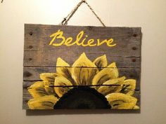 Wood Pallet Sign with sunflower by HippieHoundUSA on Etsy wood crafts crafts design crafts diy crafts furniture crafts ideas Wood Pallet Signs, Pallet Art, Wood Pallets, Wooden Signs, Pallet Ideas, Pallet Benches, Pallet Tables, Pallet Sofa, Pallet Shelves