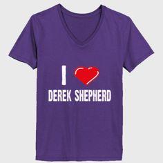 I love Patrick Dempsey tshirt - Ladies' V-Neck T-Shirt