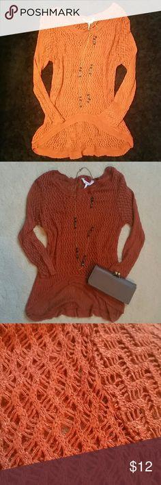 Kirra Layering Sweater - Burnt Orange - M Kirra Layering Sweater - Burnt Orange - M. No known stains/flaws Kirra Sweaters Crew & Scoop Necks