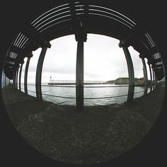 Under the Harbour at Whitby by David Neil Moorhouse - A fish-eye image with symmetrical distortion