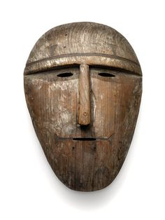 Mask for performance in plays or winter festivals. Once used masks were destroyed or put in caves 1917