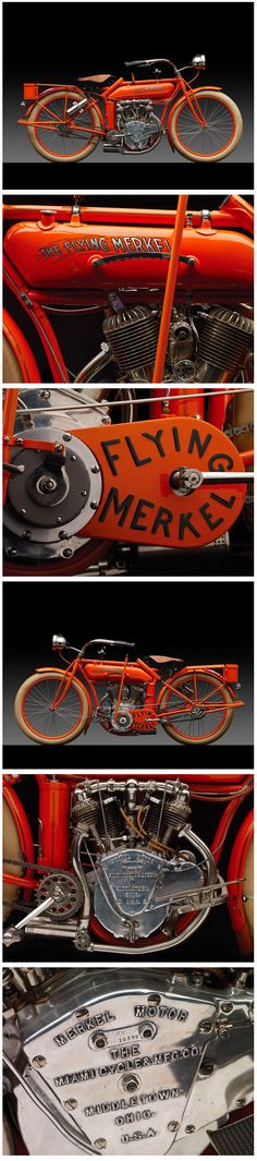 1914 Merkel Model 471 Flying Merkel Motorcycle. Merkel Motorcycles (1902-1917). Middletown, Ohio.