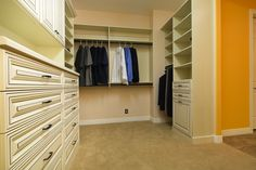 Attractive Antique White Walk In Closet By Classy Closets! Schedule A Free  Appointment! Here: Http://classyclosets.com/appointment.php #classyclosets  #morethanclosets ...