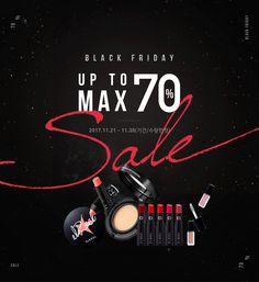 블랙프라이데이UP TO MAX 71% / 2017.11.21~11.30(기간/수량 한정) 이벤트 - 엘로엘 공식쇼핑몰 Social Media Ad, Social Media Design, Event Banner, Web Banner, Web Design, Promotional Design, Fashion Sale, Design Reference, Banner Design
