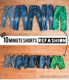 I can't speak for your kiddos, but my boys have gone hog wild with the holes in their knees. Really Bradley? 5 pairs of pants (+ 2 pairs of church pants!). I blame it mostly on the long winter spent inside on his hands and knees for hours racing his cars. Both the boys shorts [...]