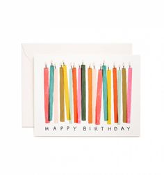 Birthday Candle Card // Rifle Paper Co. oh how I love rifle paper co. let me count the ways. Watercolor Birthday Cards, Watercolor Cards, Happy Birthday Painting, Cumpleaños Diy, Bday Cards, Cute Cards, Birthday Greetings, Greeting Cards Birthday, Homemade Cards