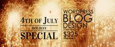Happy 4th of July!  WordPress Basic Blog Template Custom Design