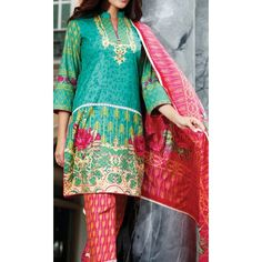 Teal Printed Cambric Dress Contact: (702) 751-3523 Email: info@pakrobe.com Skype: PakRobe
