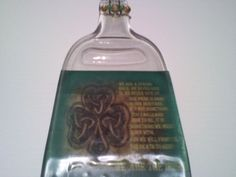 Irish gift  Melted Wine Bottle cheese tray by Collectivekayos, $15.00