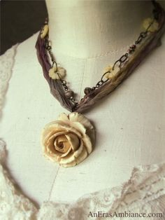 A Vintage Artist: The Romance Necklace - Vintage Upcycled Jewelry