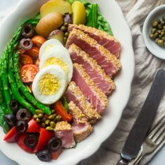 This healthy Asian Nicoise Salad is filled with colorful ingredients, and…