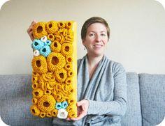 modern fiber art soft sculpture by Cornflower Blue Studio #art #crochet #etsy