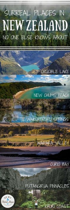 The ultimate guide to getting off the beaten path in New Zealand. 10 beautiful destinations that no one else knows about, ranging from the South Island to the North Island to everything in-between. Bucket list travel in New Zealand. Be My Travel Muse Places To Travel, Places To See, Travel Destinations, Travel Things, New Travel, Travel List, Ultimate Travel, Baby Travel, Disney Travel