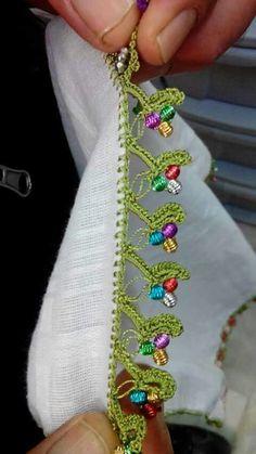 of beads-embroidery-thread-furling - Knitting a love Crochet Lace Edging, Crochet Trim, Irish Crochet, Knit Crochet, Knitting Blogs, Knitting Stitches, Embroidery Thread, Beaded Embroidery, Tatting Patterns
