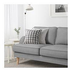STOCKSUND Sofa, Ljungen gray, light brown/wood - Ljungen gray - light brown - IKEA