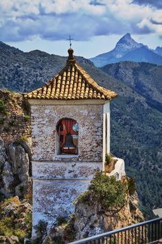 "Guadalest, Spain - ""Guadalest bell tower"" by Tomasz Melnicki Beautiful Buildings, Beautiful Places, Great Places, Places To See, Villas, Places Around The World, Around The Worlds, Medieval Houses, Free Vacations"
