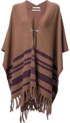 BARRIE fringed poncho on shopstyle.com