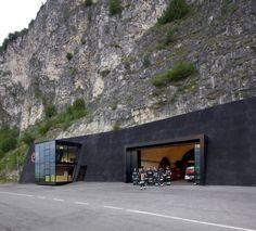 'In The Rock' Fire Station in Margreid, Italy.