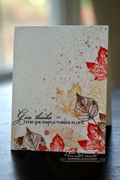 Gina K. September Inspiration Blog Hop: Day Two glimmer mist simple things card by Beth Silaika