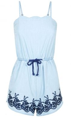 Primark SS14 Embroidered Denim Playsuit, £12