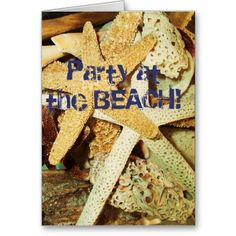 50% off NOW!!! Beach Party Invitation or customize to your needs! Greeting Card